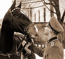 German Elite soldier and his Horse during WW2 by Obama666