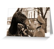 German Elite soldier and his Horse during WW2 Greeting Card
