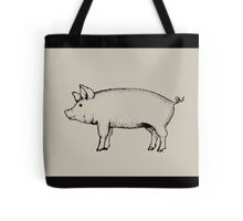 Pig Outline Art: Standing Pig: Hog Drawing Tote Bag