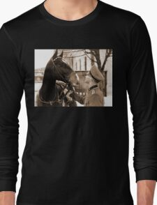 German Elite soldier and his Horse during WW2 Long Sleeve T-Shirt