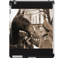 German Elite soldier and his Horse during WW2 iPad Case/Skin