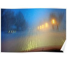Blinding Snowstorm Poster