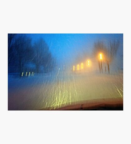 Blinding Snowstorm Photographic Print