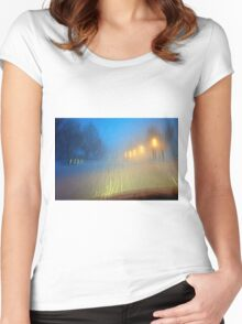 Blinding Snowstorm Women's Fitted Scoop T-Shirt