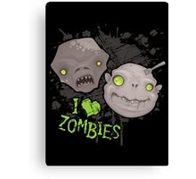 Zombie Heads Canvas Print