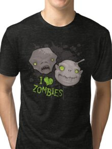 Zombie Heads Tri-blend T-Shirt