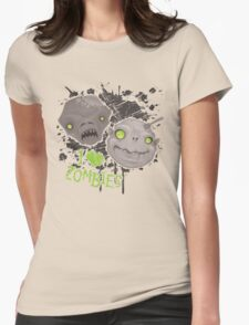Zombie Heads Womens Fitted T-Shirt