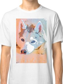 Husky in Watercolors - Private Collection Classic T-Shirt