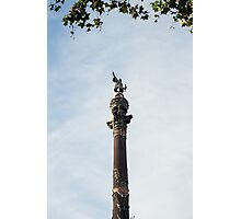 Columbus Barcelona Photographic Print