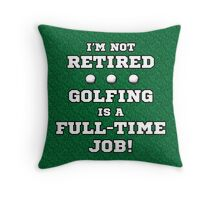 Funny Retired Golf Throw Pillow