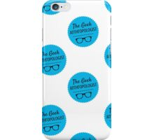 The Geek Anthropologist Logo Repeat iPhone Case/Skin