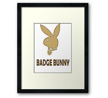 Badge Bunny Framed Print