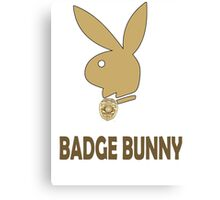 Badge Bunny Canvas Print
