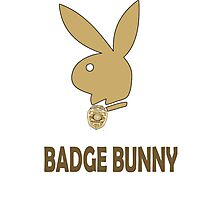 Badge Bunny Photographic Print