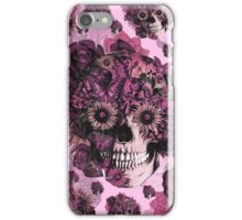 Girly by nature pink skull pattern iPhone Case/Skin