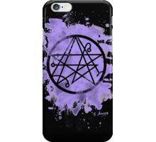 Necronomicon - bleached violet iPhone Case/Skin