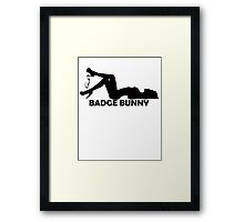Badge Bunny 2 Framed Print