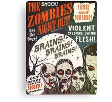 The Zombies Night Out! Canvas Print