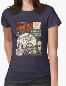 The Zombies Night Out! Womens Fitted T-Shirt