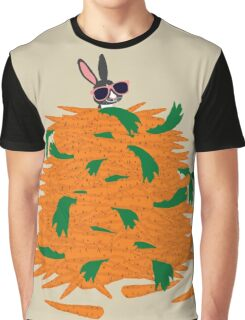 Cool bunny and carrots Graphic T-Shirt