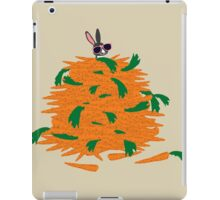 Cool bunny and carrots iPad Case/Skin
