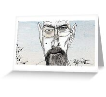 Walter White by Ralph Steadman Greeting Card