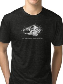 All The World is Your Enemy (white colourway) Tri-blend T-Shirt