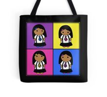 Tie Girl Sara Squared Tote Bag