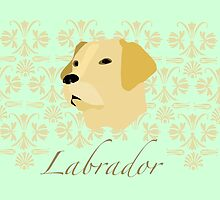 Labrador with pattern by offwhitelimo