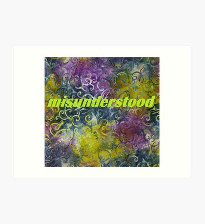 Misunderstood multi-colored Art Print