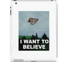 I Want To Believe - Kitty UFO iPad Case/Skin