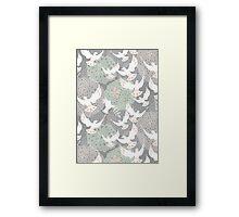 doves and flowers Framed Print
