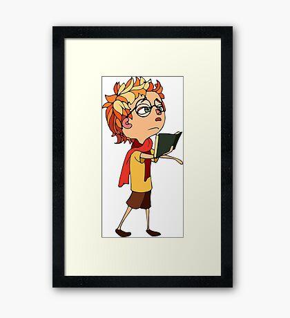 Little poet Framed Print