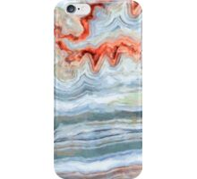 Abstract  Aqua And Orange Agate Painting iPhone Case/Skin