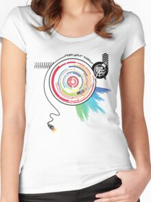 Pendulum Vinyl Music Mashup Women's Fitted Scoop T-Shirt