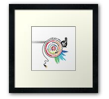 Pendulum Vinyl Music Mashup Framed Print