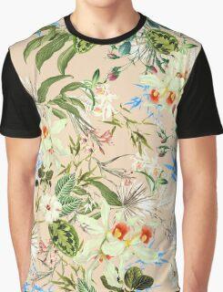 Retro Tropical Flowers Graphic T-Shirt