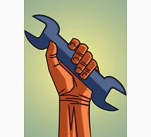 depicting a hand holding a wrench Unisex T-Shirt