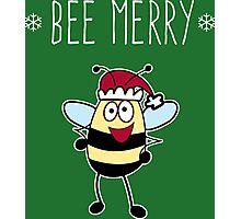Bee Merry, Christmas Bumble Bee Photographic Print