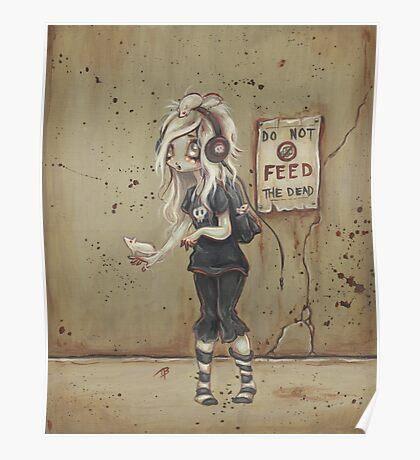 Asylum park Lucy -zombie girl Poster