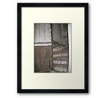 Vintage French stone farm stairway    Framed Print