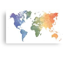 World Map - Watercolor Canvas Print