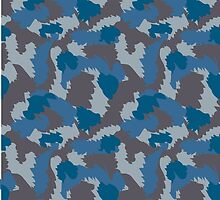 Blue and Grey Camouflage by ARTPICSS
