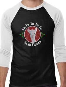 Christmas Carol Llama Men's Baseball ¾ T-Shirt