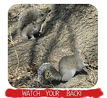 Watch Your Back! Photographic Print