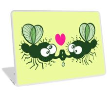 Ugly flies kissing and falling in love Laptop Skin