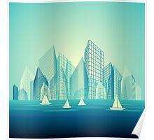 City Landscape at morning Poster