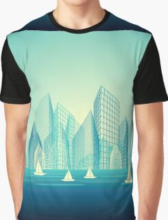 City Landscape at morning Graphic T-Shirt