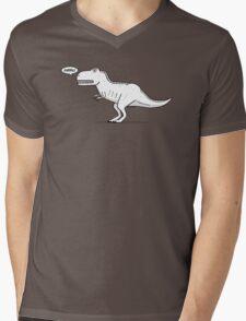 Cartoon Tyrannosaurus Rex Mens V-Neck T-Shirt