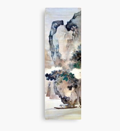 Tani Buncho Odes to the Red Cliffs Canvas Print